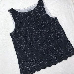 Ann Taylor Black Sleeveless Top Size 10